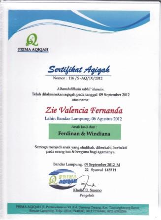 5 aqiqah lampung sertifikat